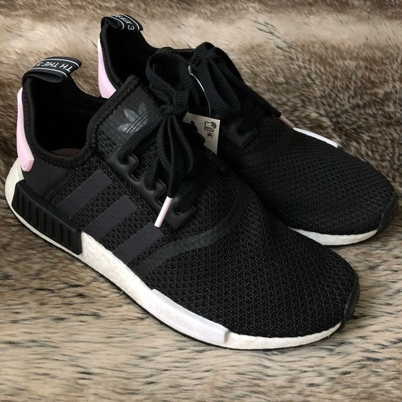 b77365646 Adidas NMD R1 Women s Shoes Black Pink